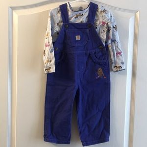 Girls Carhartt overall set